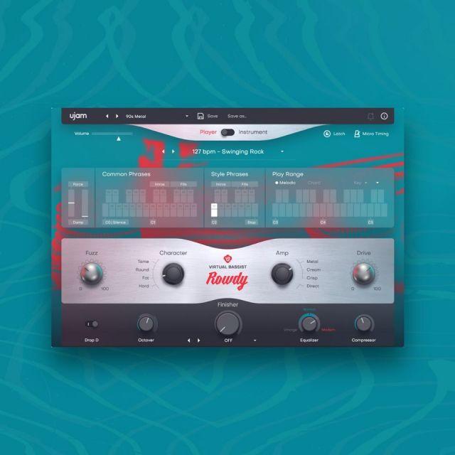 UJAM/VIRTUAL BASSIST - ROWDY 2【オンライン納品】【在庫あり】