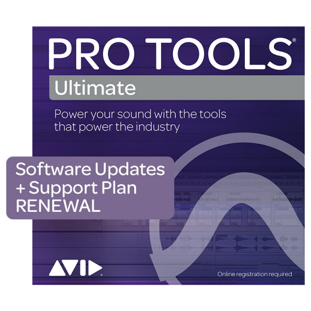 Avid/Pro Tools | Ultimate 1-Year Software Updates + Support Plan RENEWAL【更新版】【オンライン納品】【在庫あり】