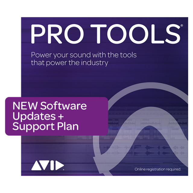 Avid/Pro Tools 1-Year Software Updates + Support Plan NEW【再加入】【オンライン納品】