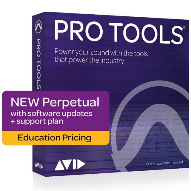 Avid/Pro Tools software with updates + support plan【アカデミック】【新規 永続】【オンライン納品】