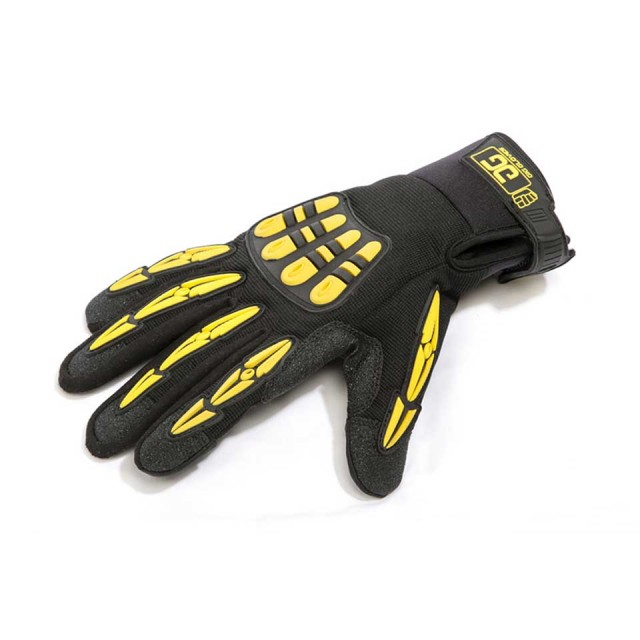 Gig Gear/ORIGINAL GIG GLOVES (Black/Yellow) Large