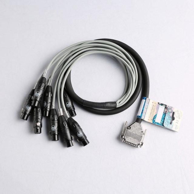 Reference Cables/RSC8 25Dsub/8XLRF 1.5m【在庫あり】
