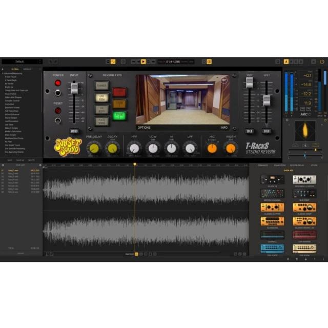 IK Multimedia/T-RackS Sunset Sound Studio Reverb【オンライン納品】