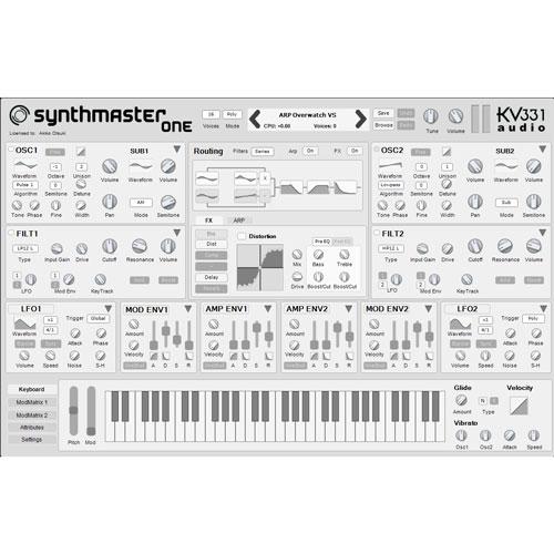 KV331/SYNTHMASTER ONE【数量限定キャンペーン】【オンライン納品】【在庫あり】