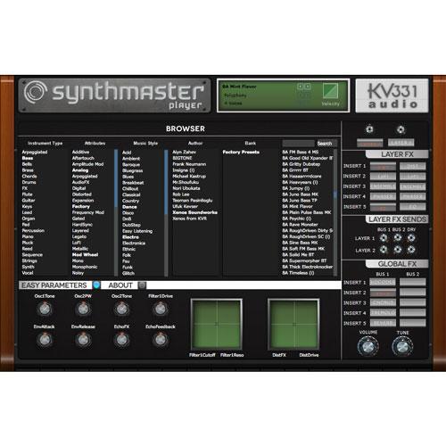 KV331/SYNTHMASTER - PLAYER【オンライン納品】【在庫あり】
