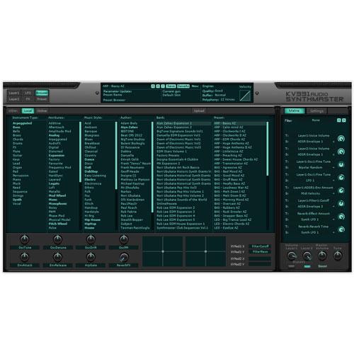 KV331/SYNTHMASTER - EVERYTHING BUNDLE【数量限定キャンペーン】【オンライン納品】【在庫あり】