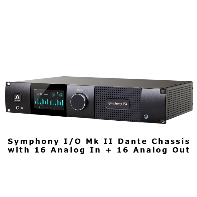 APOGEE/Symphony I/O Mk II Dante Chassis with 16 Analog In + 16 Analog Out