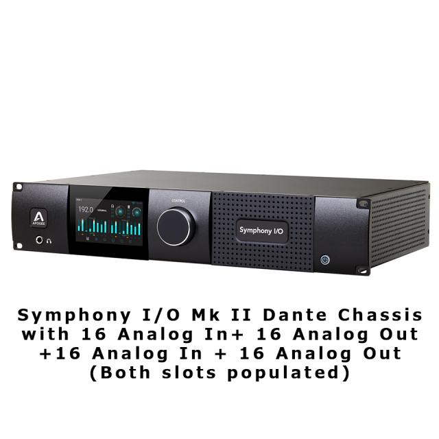 APOGEE/Symphony I/O Mk II Dante Chassis with 16 Analog In + 16 Analog Out+16 Analog In + 16 Analog O