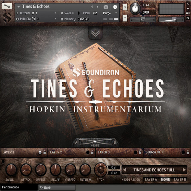 SOUNDIRON/HOPKIN INSTRUMENTARIUM : TINES & ECHOES【オンライン納品】【在庫あり】