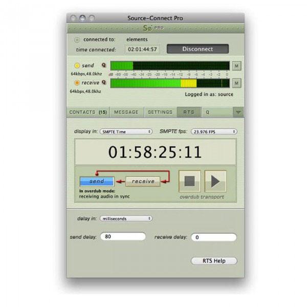 Source Elements/Source-Connect Pro X 3.9 OSX【オンライン納品】