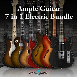 AMPLE SOUND/AMPLE GUITAR 6 IN 1 ELECTRIC BUNDLE【~8/29 期間限定特価キャンペーン】【オンライン納品】【在庫あり】