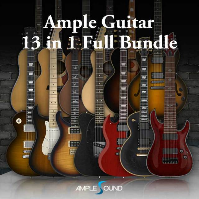 AMPLE SOUND/AMPLE GUITAR 13in1 FULL GUITAR BUNDLE【オンライン納品】【在庫あり】