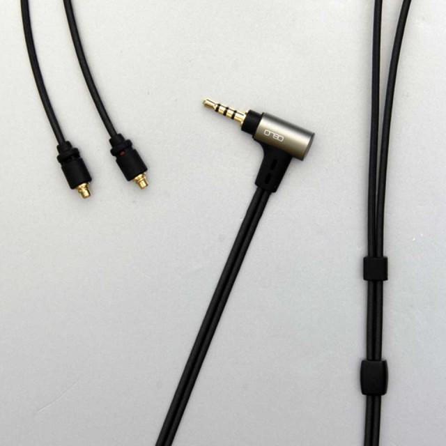 onso/iect_01 イヤホンケーブル(ブラック) MMCX-2.5mm4極 1.2m