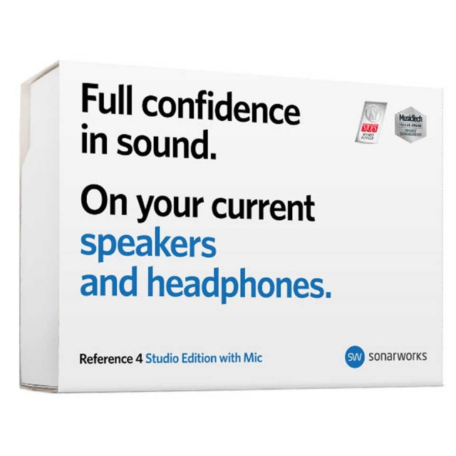 Sonarworks/Reference 4 Studio edition with mic - boxed 【Black Fridayキャンペーン】【入荷待ち/ご予約受付中】