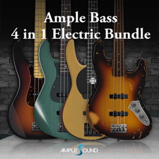 AMPLE SOUND/AMPLE BASS 4 IN 1 ELECTRIC BUNDLE【オンライン納品】【在庫あり】