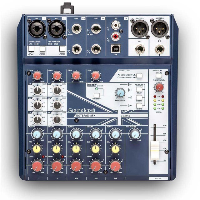 SOUNDCRAFT/Notepad-8FX