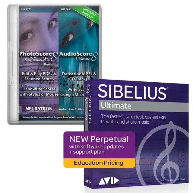 Avid/Sibelius Ultimate アカデミック版 PhotoScore & AudioScore バンドル【オンライン納品】