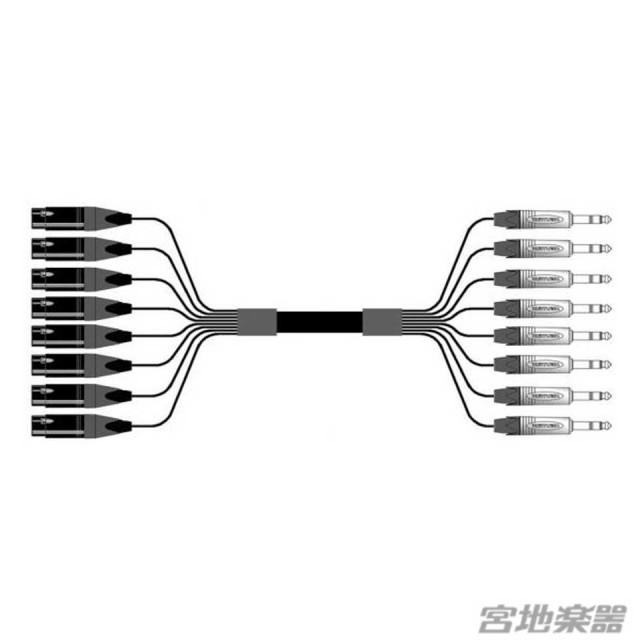 Belden/8ch XLRF(メス)-TRS(NEUTRIK) 変換ケーブル 10m マルチチャンネルケーブル