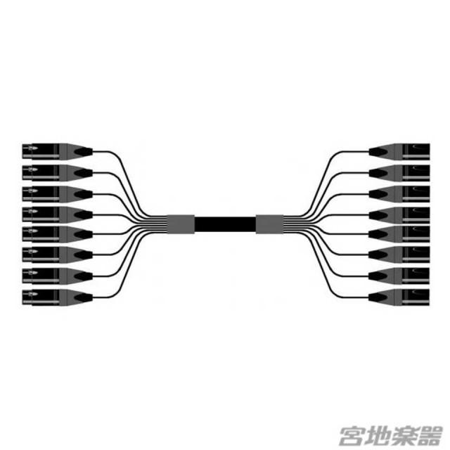 Belden/8ch XLRF(メス)-XLRM(オス) 変換ケーブル 10m マルチチャンネルケーブル