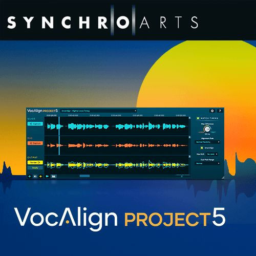 SynchroArts/VocAlign Project 5 - New License【~10/25 期間限定特価キャンペーン】【オンライン納品】