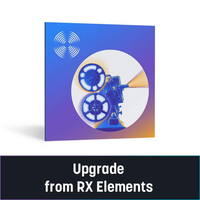 iZotope/RX 9 Standard Upgrade from RX Elements/Plugin Pack【~10/31 期間限定特価キャンペーン】【オンライン納品】