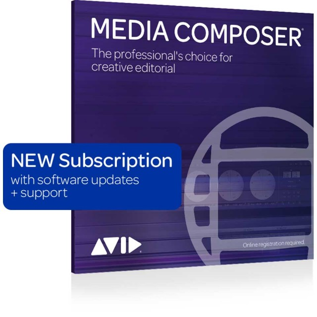 Avid/Media Composer 1-Year Subscription NEW【新規 サブスクリプション 1年】【パッケージ版】