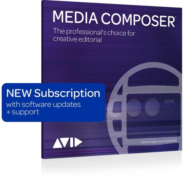 Avid/Media Composer 1-Year Subscription NEW 【新規 サブスクリプション 1年】【オンライン納品】