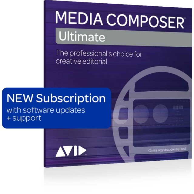 Avid/Media Composer | Ultimate 1-Year Subscription NEW【新規 サブスクリプション】【パッケージ版】