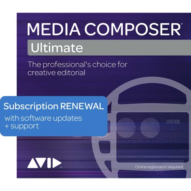 Avid/Media Composer | Ultimate Floating 1-Year Subscription RENEWAL (20 Seat)【サブスクリプション 更新版】【フローティング】【オンライン納品】