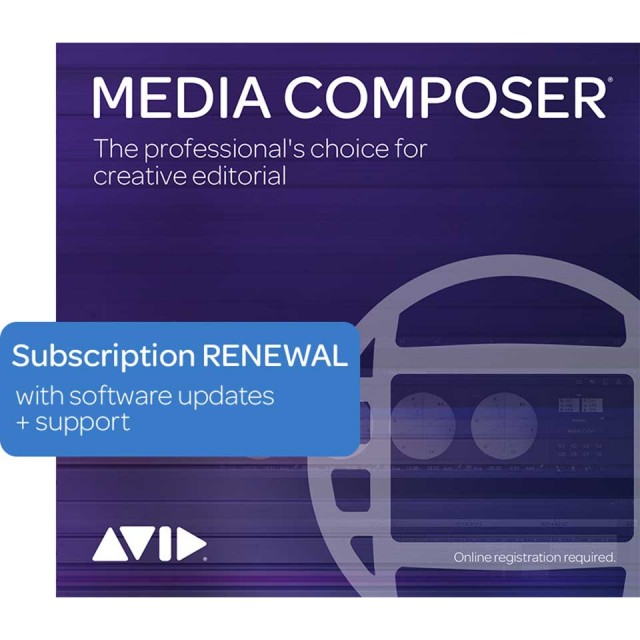 Avid/Media Composer 1-Year Subscription RENEWAL【サブスクリプション】【オンライン納品】【更新版】