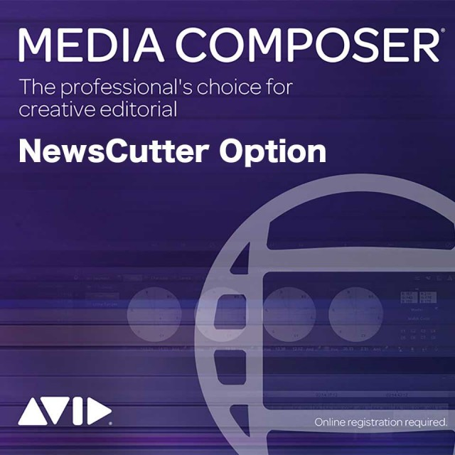 Avid/Media Composer Perpetual | NewsCutter Option【永続ライセンス】【オンライン納品】