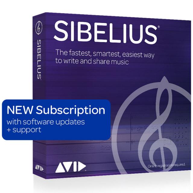 Avid/Sibelius サブスクリプション(1年)【~6/30 期間限定特価キャンペーン】【オンライン納品】