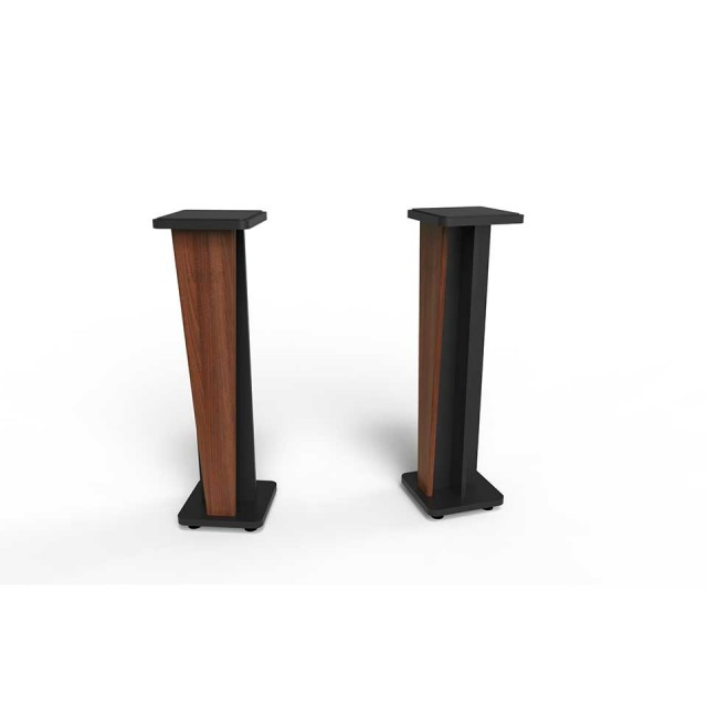 Zaor Studio Furniture/Croce Stand 42 (pair) Walnut/Black【受発注品】