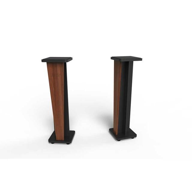Zaor Studio Furniture/Croce Stand 42 (pair) Walnut/Black【受発注品】