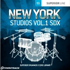 TOONTRACK/SDX - NEW YORK STUDIOS VOL.1【オンライン納品】【在庫あり】