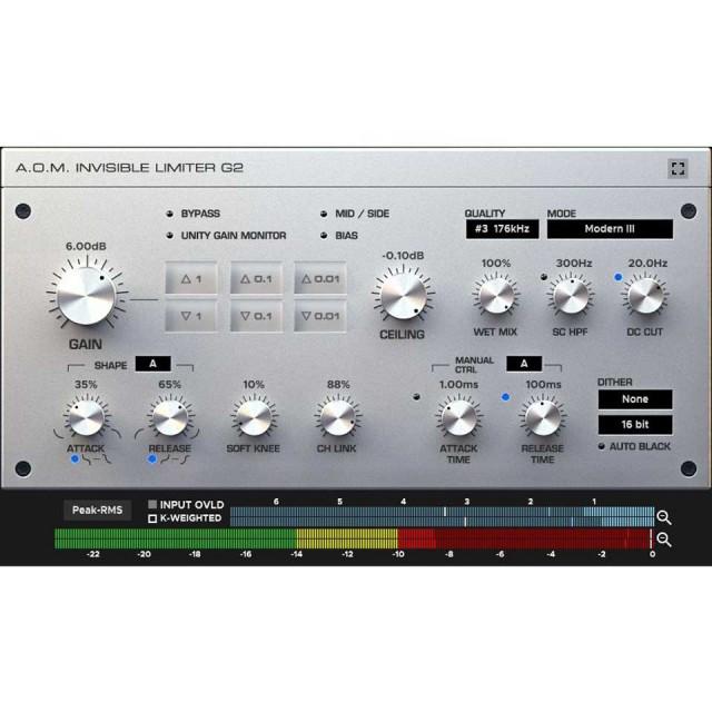 A.O.M.Plugin/Invisible Limiter G2【オンライン納品】