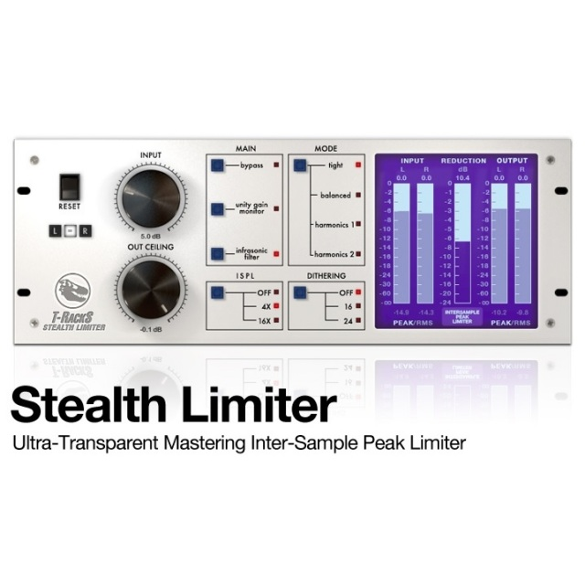 IK Multimedia/T-RackS Stealth Limiter【オンライン納品】