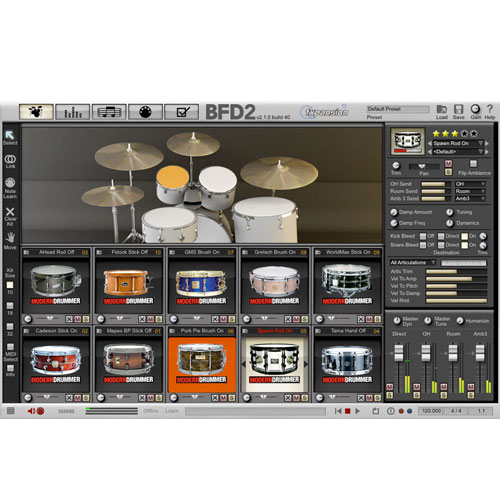 FXPansion/BFD3/2 Expansion Pack: Modern Drummer Snare Selects【オンライン納品】【BFD拡張】