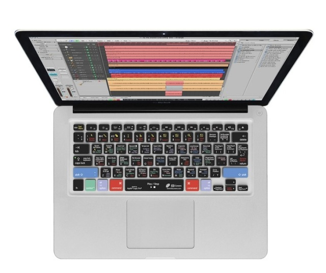 KB Covers Clearskin/for Logic Pro/Apple MacBook Pro/MacBook Air US配列【LOG-M-CC2】