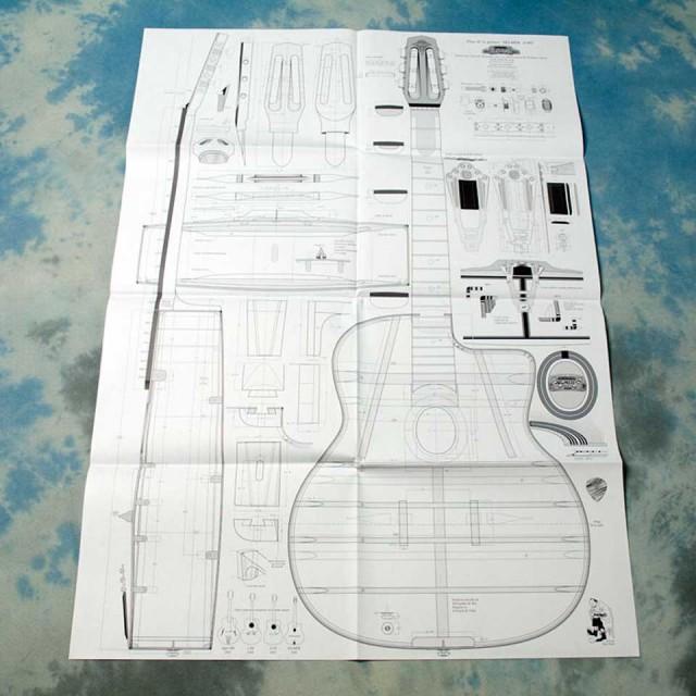 Selmer/Plan Oval Posterセルマー オーヴァル ホール 設計図 ポスター【在庫あり】