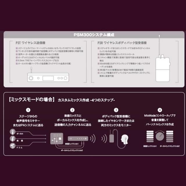 SHURE/PSM300(SE112高遮音性イヤホン付きセット)【ステレオパーソナルモニターシステム】【P3TJR112GR-JB】