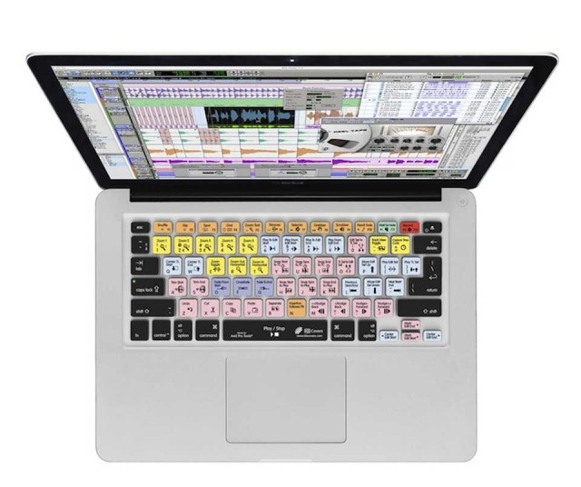 KB Covers for Pro Tools クリア地タイプ Macbook Pro/MacBook Air用【開封品特価】 【US配列】【PT-M-CC2】