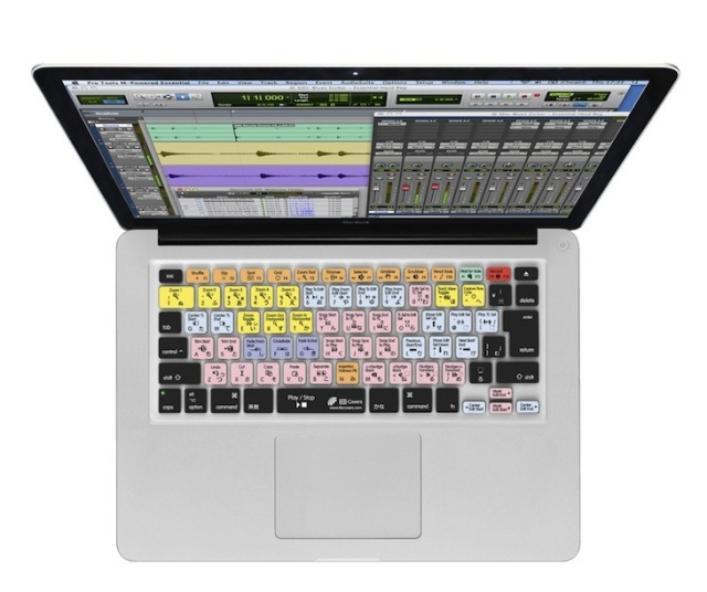 KB Covers for Pro Tools クリア地タイプ Macbook/Macbook Pro/MacBook Air用【パッケージダメージ特価】【JIS配列】【PT-M-JIS-CC】