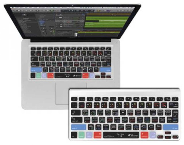 KB Covers/for Logic Pro X【MacBook Pro / MacBook Air(13インチ)対応】【LOGX-M-CC2】【US配列】