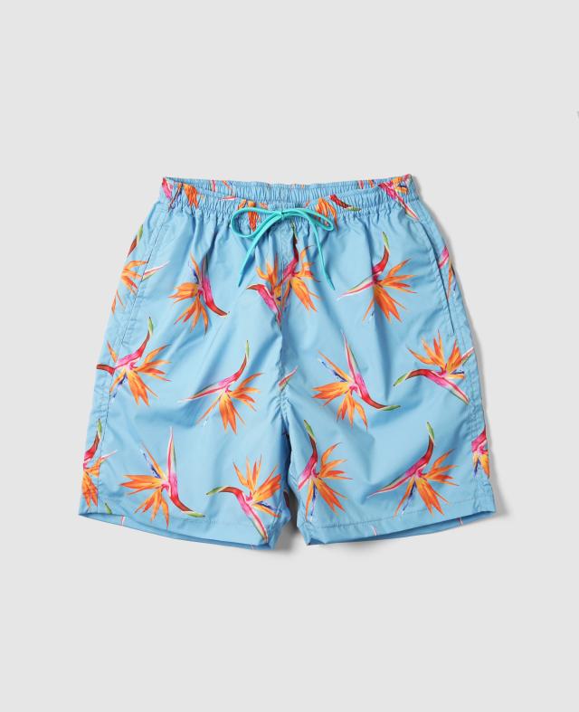 Aloha Blossomビーチショーツ / BIRDS OF PARADISE