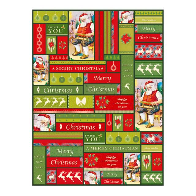 【クリスマス】デコパッチペーパー クリスマス サンタメッセージ