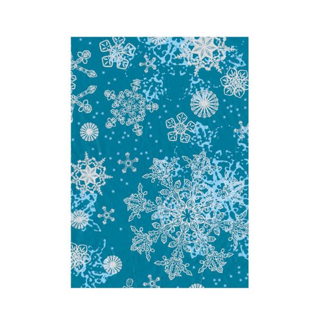 【クリスマス】デコパッチペーパー クリスマス スノー柄 ブルー