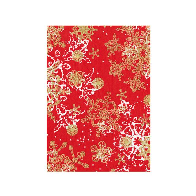 【クリスマス】デコパッチペーパー クリスマス 雪の結晶 レッド