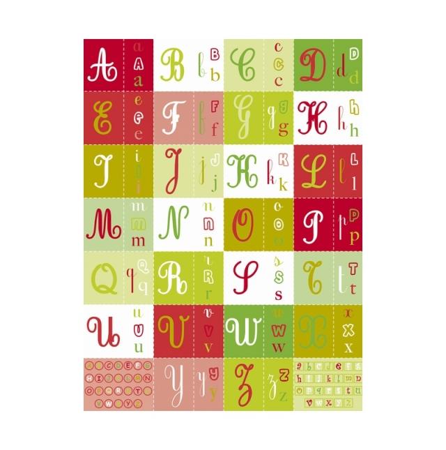 【クリスマス】デコパッチペーパー クリスマス アルファベット
