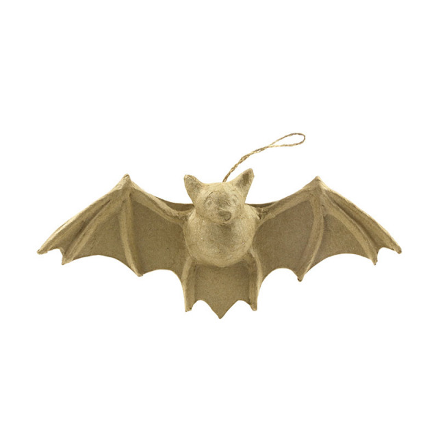 【ハロウィン】ペーパーマッシュ コウモリ